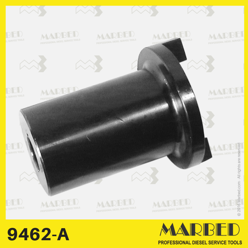 25 mm conical coupling to drive diesel pumps on any test bench. The puller 9463 is recommended to unplug the shaft.