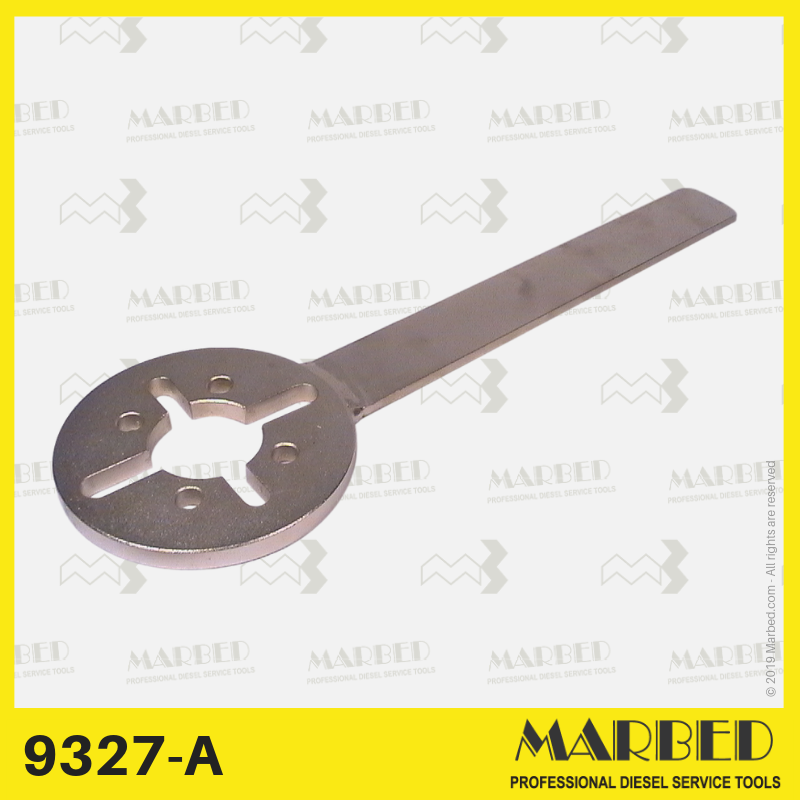 Retaining wrench for turning and supporting the camshaft.  Similar to 0 986 611 211 (KDEP 2906).