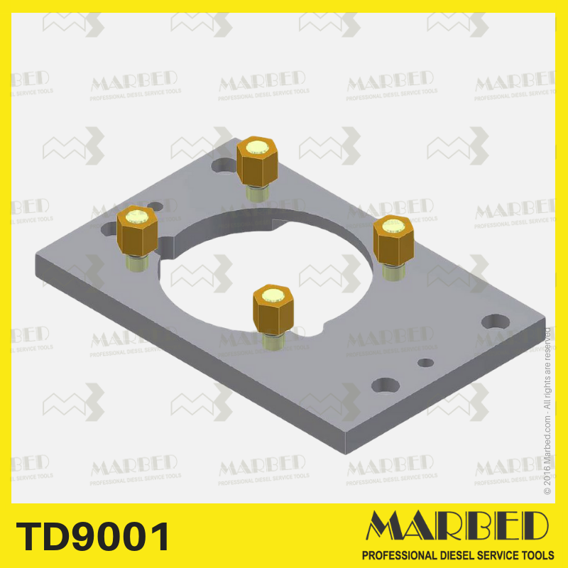 Yanmar 3-cylinder pump fixing plate, for testing with 9562-M1 cambox