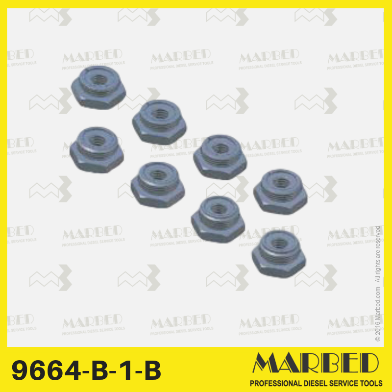 Set of 8 fixed size plugs (A-H) for pressure testing on DPS pumps. Similar to CAV / Lucas / Delphi 7244-435.