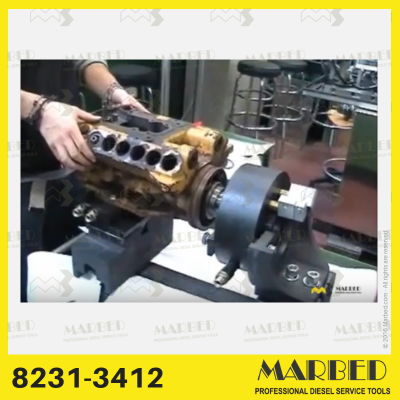 Solution to mount and drive Caterpillar 3412 pumps on hartridge AVM-PC test benches.